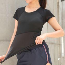 슬림바디 쿨메쉬 티셔츠(블랙)(M)