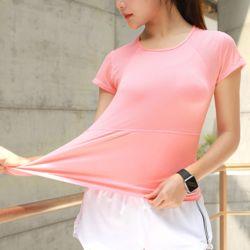 슬림바디 쿨메쉬 티셔츠(핑크)(S)