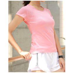 슬림바디 쿨메쉬 티셔츠(핑크)(M)