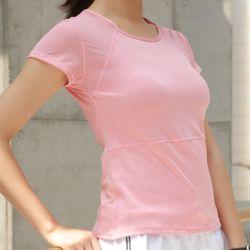 슬림바디 쿨메쉬 티셔츠(핑크)(L)