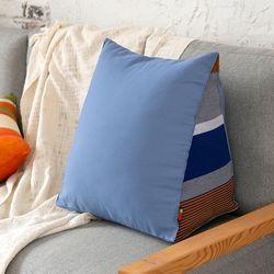 삼각 등쿠션 블루 바티카로(솜포함)