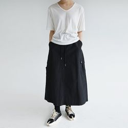 cargo pocket detail skirts (black)
