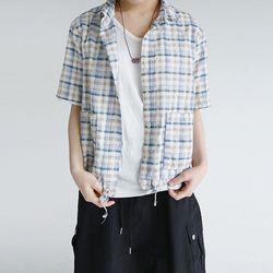 cozy mood check shirts (2colors)