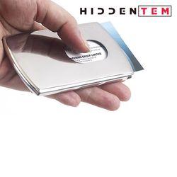히든템 고급 스틸 슬라이드 명함 케이스