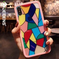 데켄스 M527 아이폰 스테인 아트 하드 휴대폰 핸드폰