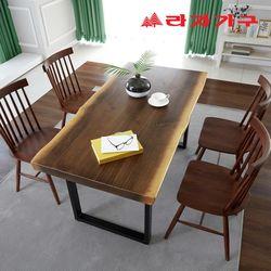 모데르 우드슬랩 식탁 테이블 6인 1800