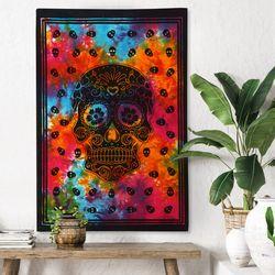 스컬 히피 - 태피스트리 패브릭포스터 포스터 76x117cm