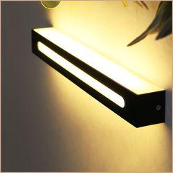 스모키 직사각 벽등 LED 12W 블랙 인테리어등