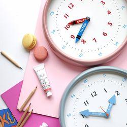 250파이 어린이 시간공부 무소음 컬러벽시계(2color)