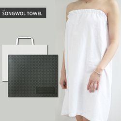 호텔 랩 샤워가운 1개 선물세트 (박스 쇼핑백포함)