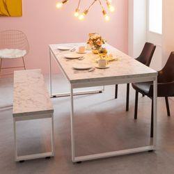 스틸마블 6인용 식탁테이블 1800x600