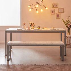 스틸마블 6인용 식탁테이블 1600x800