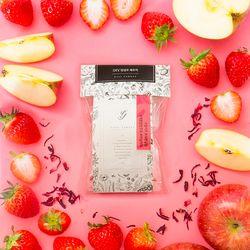 딸기사과 담금주 DIY 파우치와 유리병 모음 (1L 용)