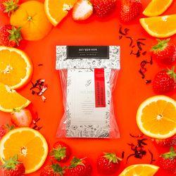 딸기오렌지 담금주 DIY 파우치와 유리병 모음 (1L 용)