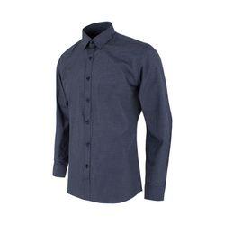 화이트 체크 네이비 슬림 셔츠S1108