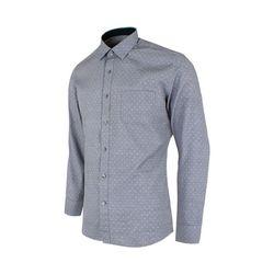 화이트 도트 패턴 그레이 슬림 셔츠SV1006