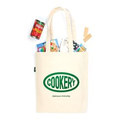Cookery tote bag(green)