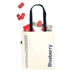 Blueberry tote bag(navy)