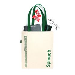 Spinach tote bag(green)