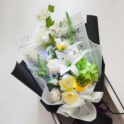 럭셔리백합꽃다발 75cmP (전구포함)  조화 FMBBFT