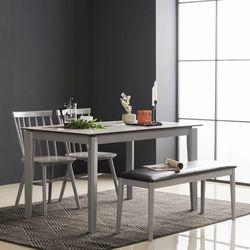아르메 제니스 세라믹 4인 식탁세트(의자2 벤치1)