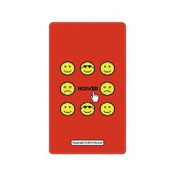 Smile face battery-red