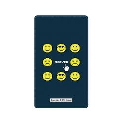 Smile face battery-navy