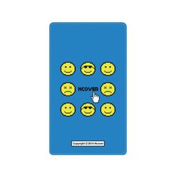 Smile face battery-blue