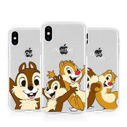 [T]디즈니 칩앤데일 젤리 케이스.아이폰5S(SE)