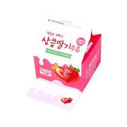 [1만원↑튜브컵홀더 증정] 상큼 딸기 우유 메모지