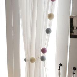 봉봉펠트볼 가랜드모음(3color)(2size)그레이(S)