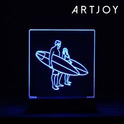 아트조이 DIY 아크릴 LED 셀프무드등 (블루) 15cm