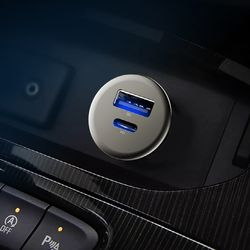 LED 메탈 미니 컴팩트 차량용 고속 충전기 QC3  PD 포트