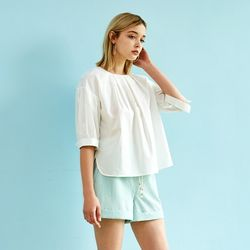 COTTON VOLUME BLOUSE WHITE