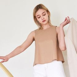 COTTON CROP TOP BEIGE
