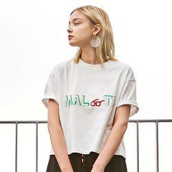 MALTA CROP T-SHIRTS WHITE