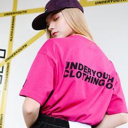 유와이씨씨 로고 티 02 (핑크)