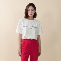 [로코식스] 반팔 레터링 라운드넥 티셔츠
