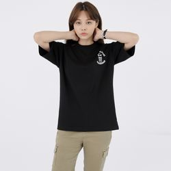 W스웩버 3509-브로큰글라시스(블랙)오버핏 티셔츠