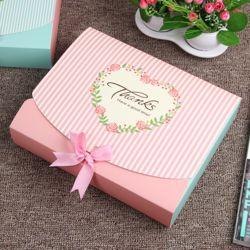 핑크 스트라이프 선물상자(25x20cm)