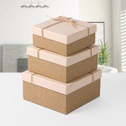 모아 마끈 리본 선물상자 3종세트
