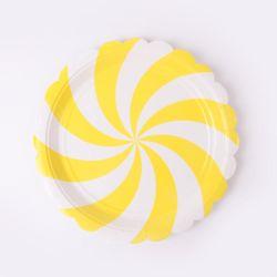 롤리 파티접시 18cm - 옐로우(6입)