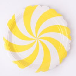 롤리 파티접시 23cm - 옐로우(6입)