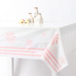 롤리 비닐 테이블보 -핑크(1매)