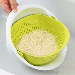회전 쌀 채소 세척볼 채반(소)