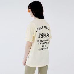 W스웩버 3507-홀리데이(크림)오버핏 티셔츠
