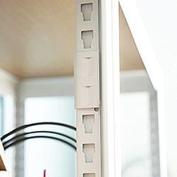 홈던트 시스템 철제 책장 부속 - 기둥 고정 클립 4개입