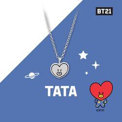 [BT21] 실버 목걸이 : TATA