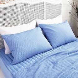 쿨링쿨링 시어서커 베개커버(40x60cm) 블루 2장