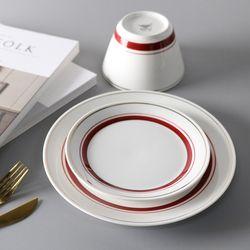 라인 접시 소 2color